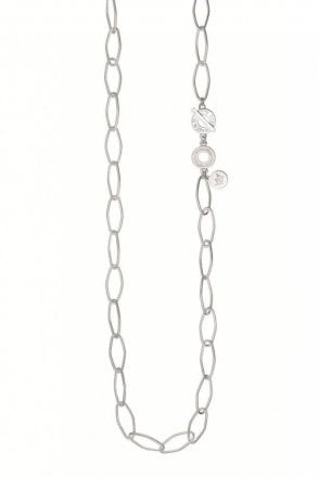 Signature Open Chain Necklace in Worn Silver