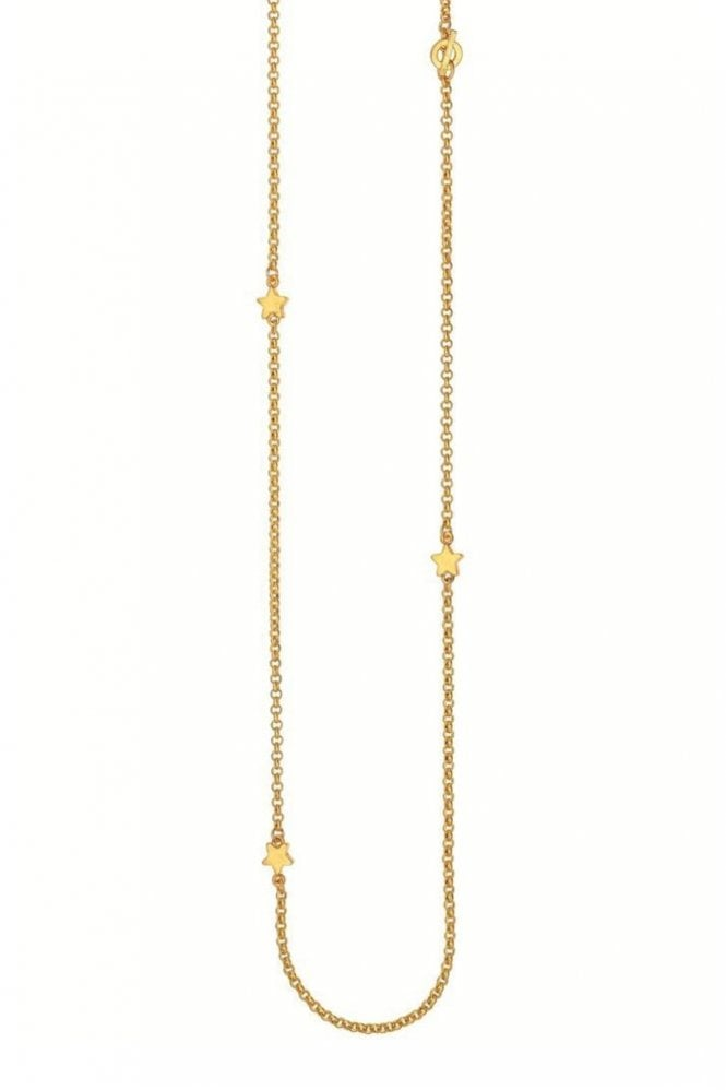 Sence Copenhagen Signature Star Worn Gold Necklace