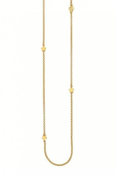 Signature Star Worn Gold Necklace