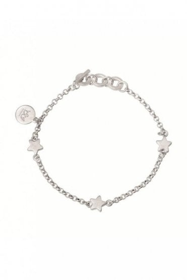 Signature Star Worn Silver Bracelet