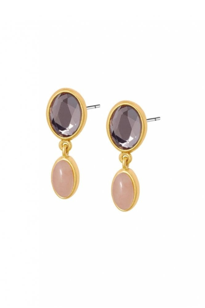 Sence Copenhagen Summer in The City Rose Quartz Earrings