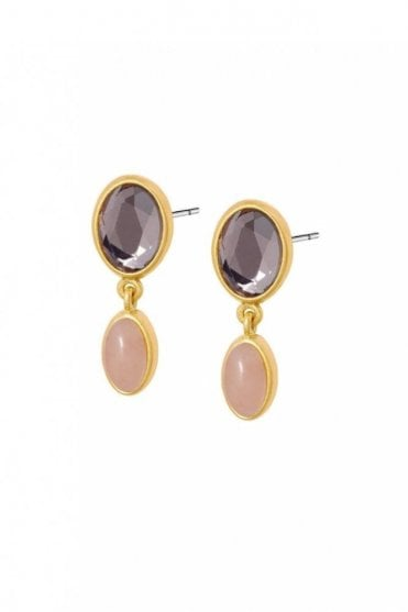 Summer in The City Rose Quartz Earrings