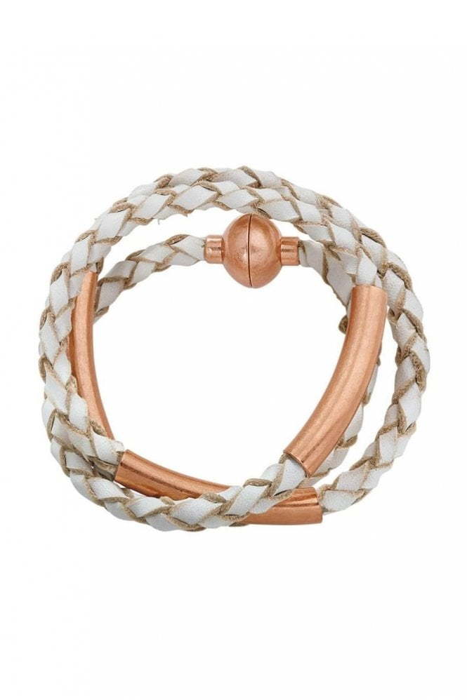 Sence Copenhagen Wild Free Worn Rose Gold Leather Bracelet