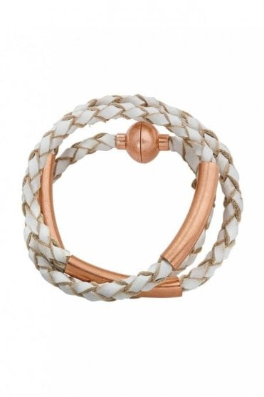 Wild Free Worn Rose Gold Leather Bracelet
