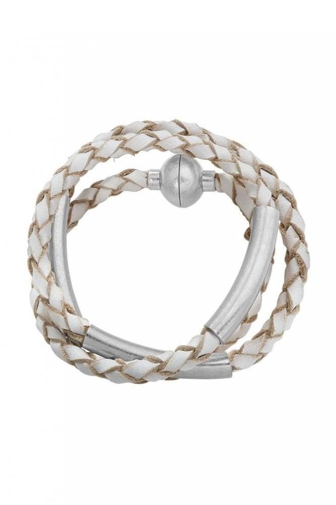 Sence Copenhagen Wild Free Worn Silver Leather Bracelet