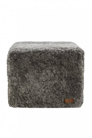 Emma Pouffe in Grey Graphite