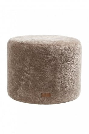 Frida Round Pouffe in Stone