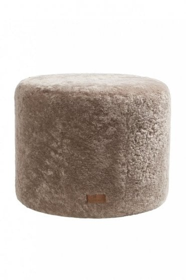 Frida Round Pouffe in Stone