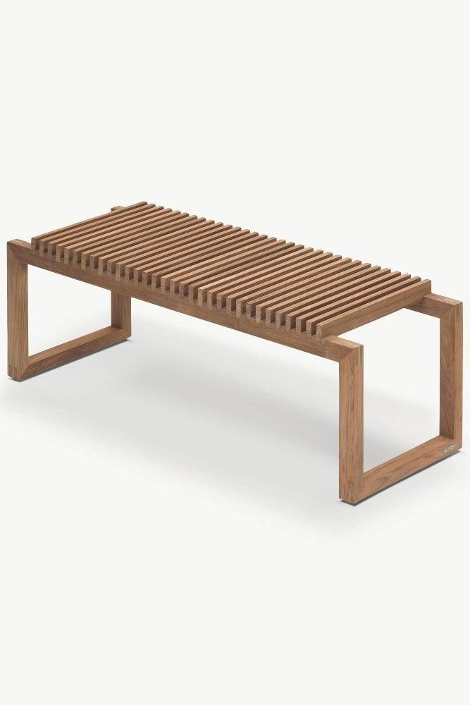 Skagerak cutter bench 120cm in teak at sue parkinson for Lifestyle furniture
