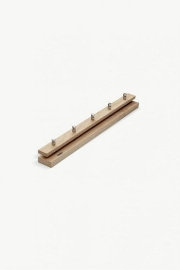 Cutter Coat Rack 72 in Oak