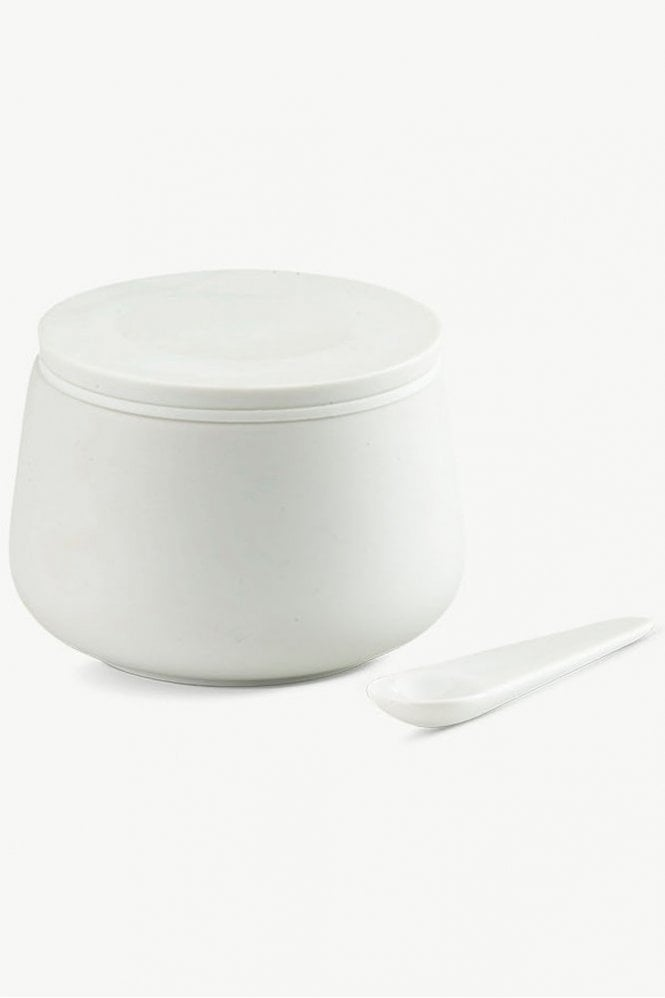 Skagerak Nordic Porcelain Jar with Spoon Ø9 in White