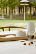 Skagerak Nordic Porcelain Jar with Spoon Ø9 in White