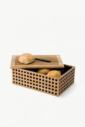 Pantry Bread Box in Teak