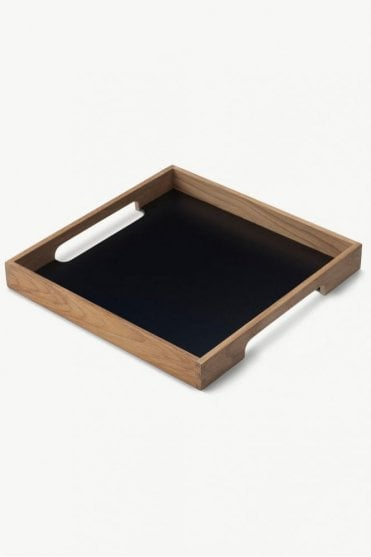 Serving Time Square Tray in Teak