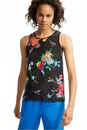 Silk & Jersey Flower Vest