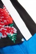 Sportmax Code Silk & Jersey Flower Vest