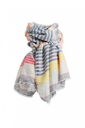 Barba Scarf in Denim Coral
