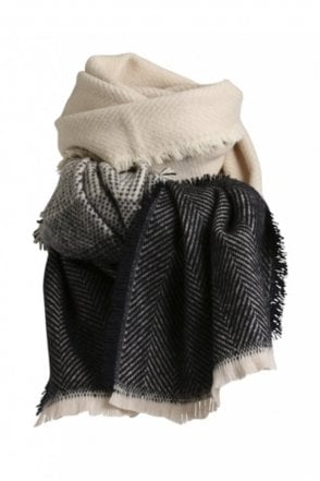 Lauren Scarf in Black/Beige