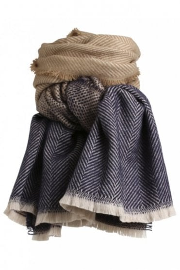 Lauren Scarf in Blue/Camel