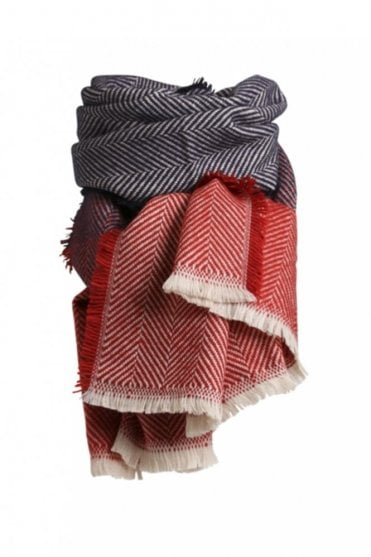 Lauren Scarf in Red/Blue