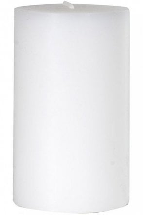 60 x 100mm White Pillar Candle