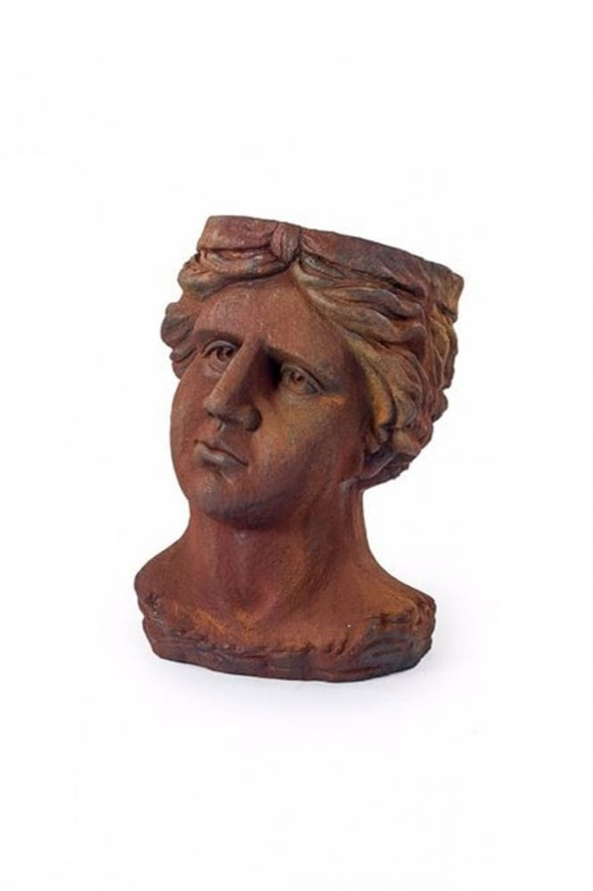 Sue Parkinson Home Collection Antiqued Rusted Classical Head Planter
