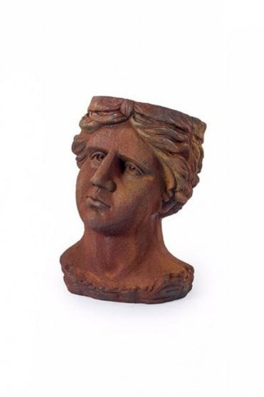 Antiqued Rusted Classical Head Planter