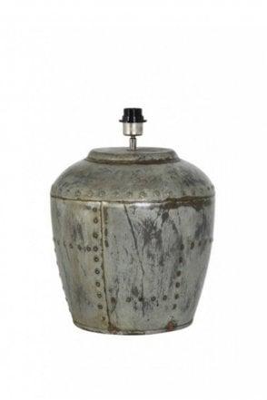 Batu Lamp Base in Vintage Silver
