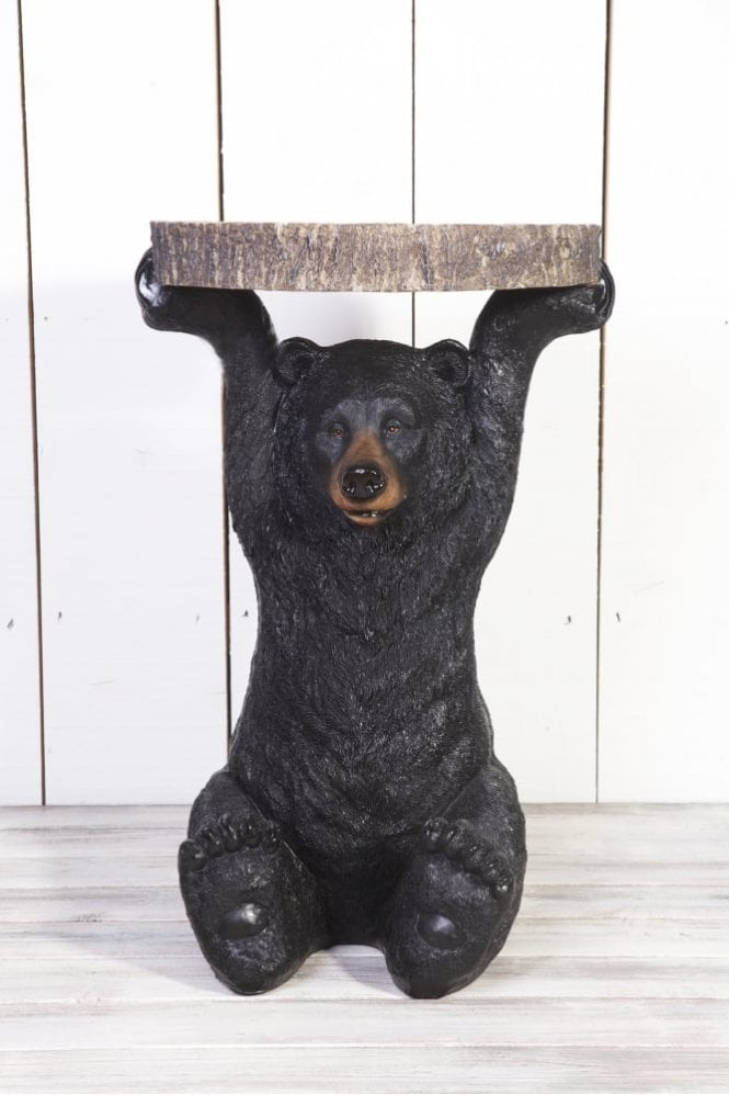 Sue Parkinson Home Collection Benny Black Bear Side Table