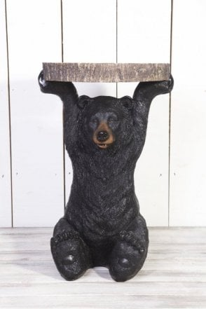 Benny Black Bear Side Table