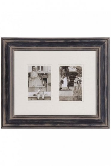 Black Distressed Two Picture Photoframe