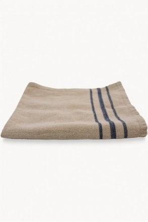 Boston Linen Napkin Natural with Navy Stripe