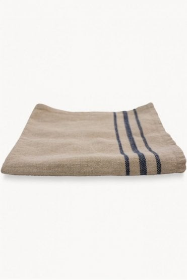 Boston Linen Napkin Natural with Navy Stripe