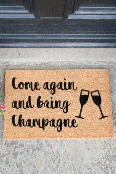 Bring Champagne Doormat V2