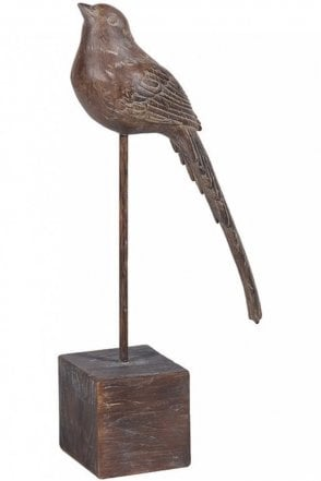 Brown Bird On Stand