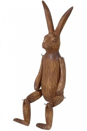 Brown Wood Effect Jointed Rabbit