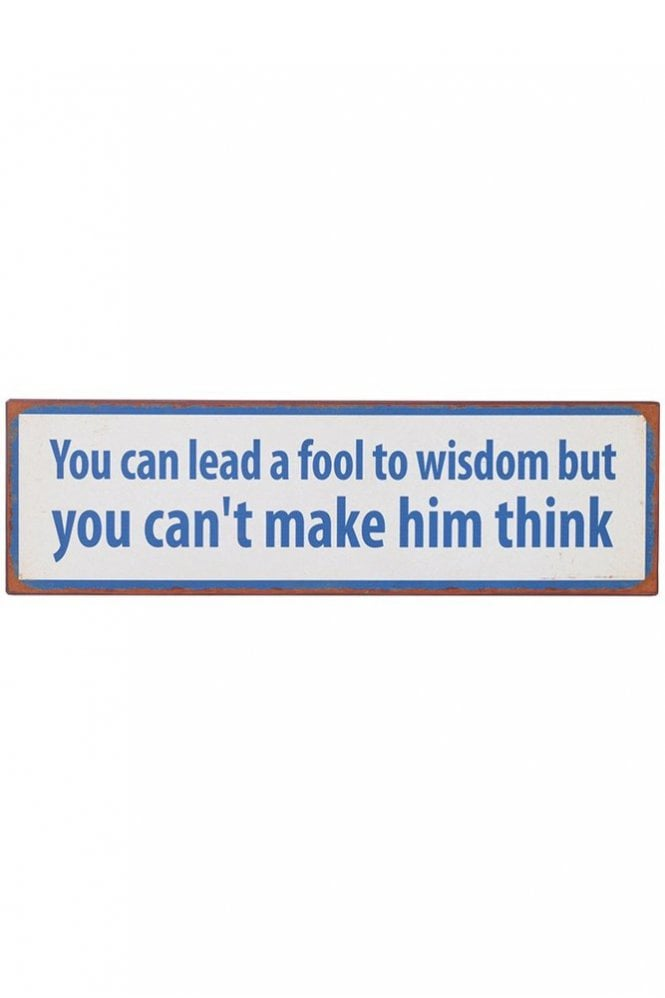 Sue Parkinson Home Collection 'Can't Make Him Think' Plaque