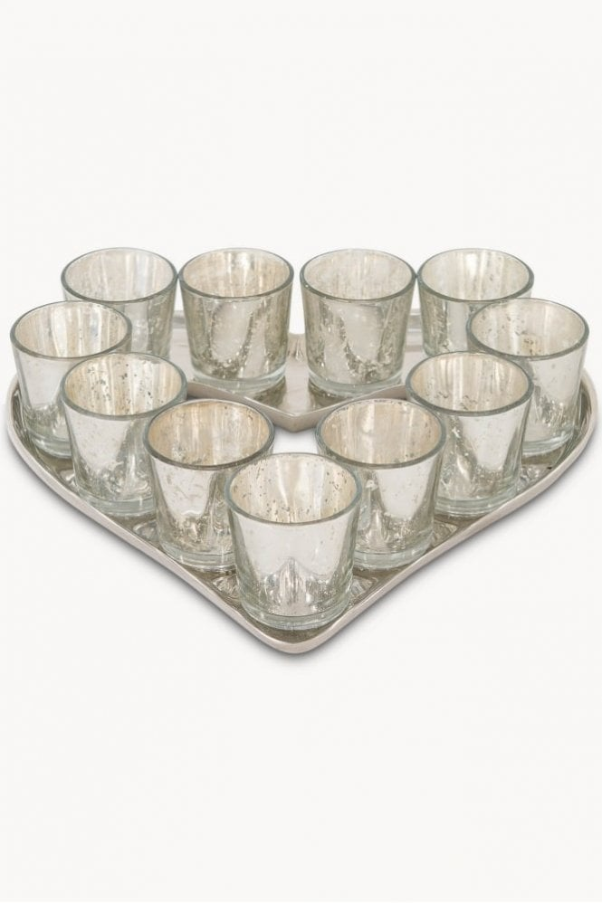 Sue Parkinson Home Collection Claymore Speckled Heart Votive Tray