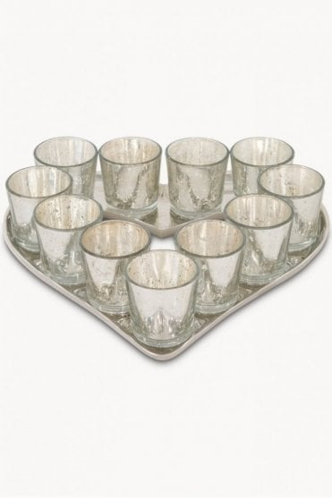 Claymore Speckled Heart Votive Tray