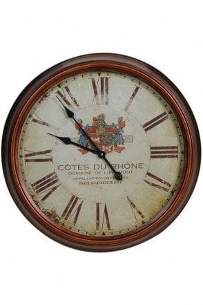 Cotes Du Rhone Wall Clock