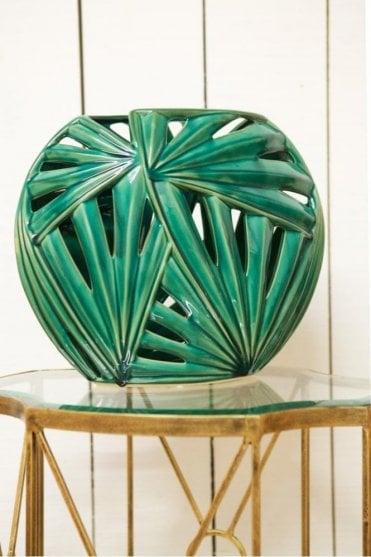Crackled Vase in Green