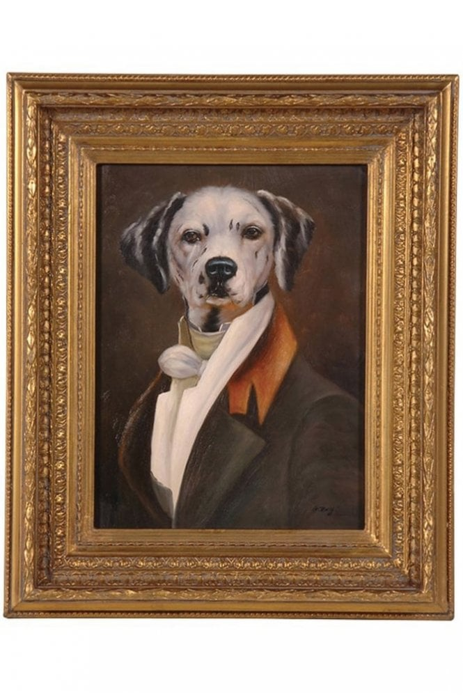 Sue Parkinson Home Collection Dalmatian Portrait In Gilt Frame