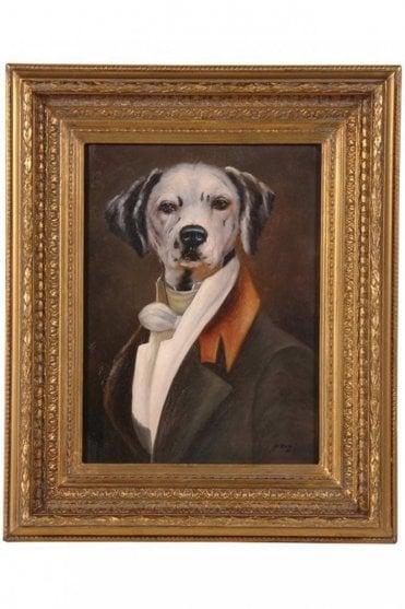 Dalmation Portrait In Gilt Frame