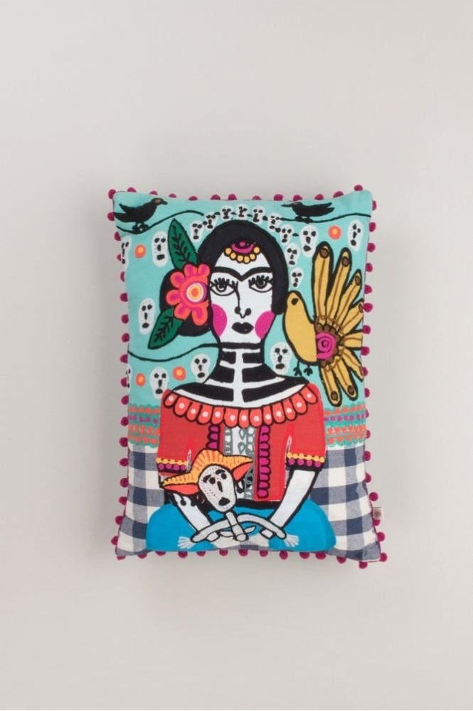 The Home Collection Day Of The Dead Filled Cushion