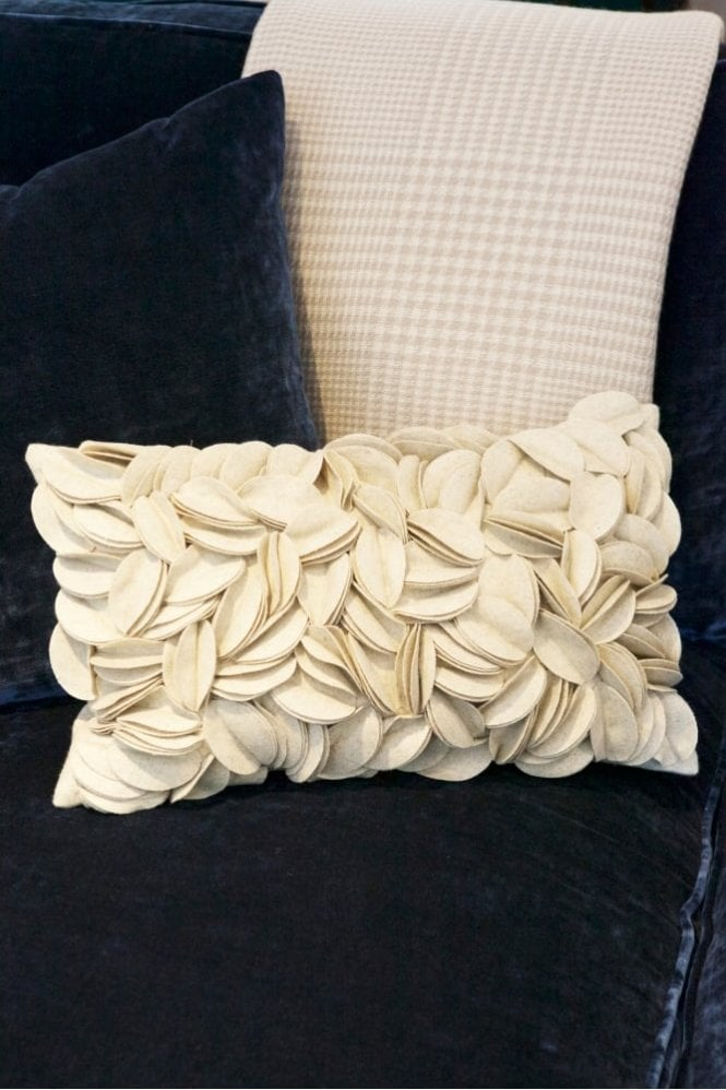 The Home Collection Dorothy Wool Felt Cushion in Natural