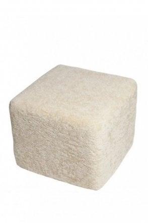 Emma Square Pouffe in Cream