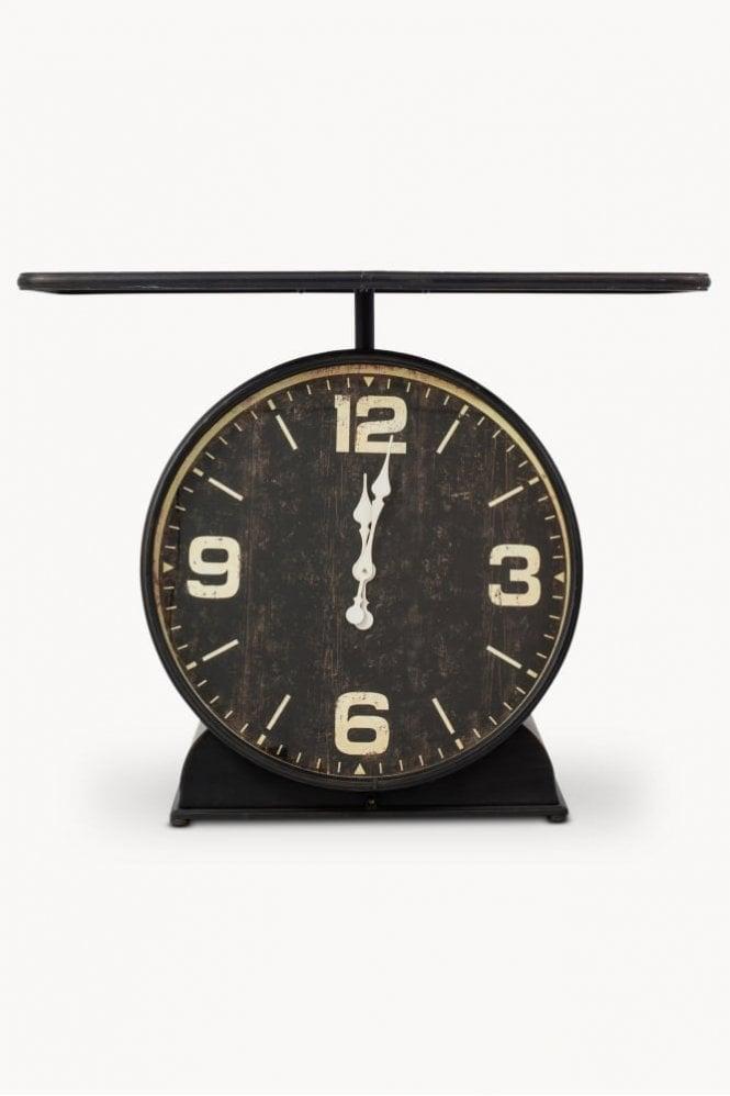 Sue Parkinson Home Collection Fairfield Iron Clock Console Table