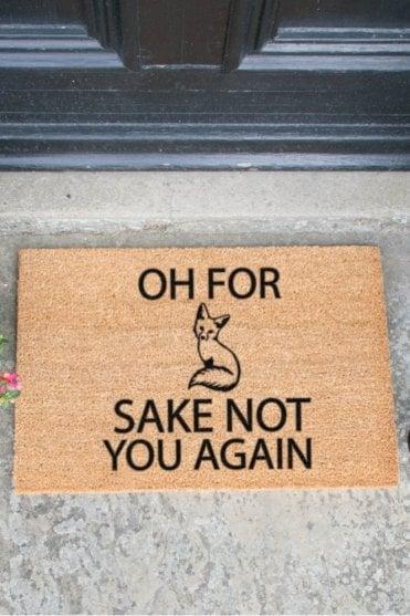 For Fox Sake Doormat