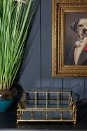 Sue Parkinson Home Collection Gold Bamboo Tray