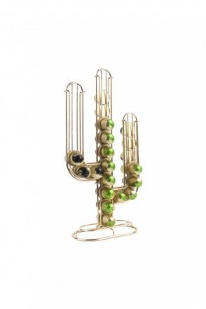 Gold Cactus Coffee Pod Holder